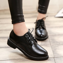 Patent Leather Lace Up Neutral Low Heel Casual Oxfords Round Toe Ankle Women Shoes Retro Vintage Ladies Flats Black Wine Red