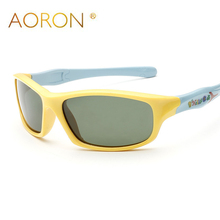 AORON Sports Children Sunglasses Polarized Safety Flexible Kids Sunglasses Soft Rubber Boy Girl Goggles Outdoors Eyewear