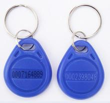 50pcs access control ID 125KHZ RFID keyfob tag with TK4100 chip for proximity card reader