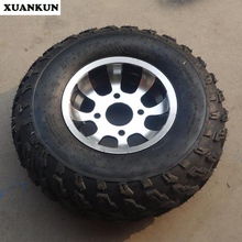XUANKUN Karting Beach Car Motorcycle Tires Before 23 * 7-10 Inch After 22 * 10-10 Inch Aluminum Wheel Tires
