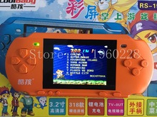 "New 3.2"" Bit Color Screen Handheld Game Consolel Portable Video Game Consoles Free 318 Games Player Wholesale Gift For Kids"