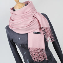 Women solid color cashmere scarves with tassel lady winter thick warm scarf high quality female shawl hot sale YR001(China)