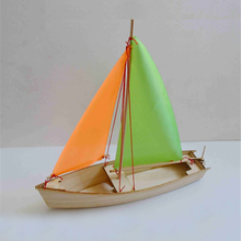 Free shipping DIY Sailboat Model Toys Wooden material Laser Engraving Process Creative Handmade Toys Model ship Educational Toy(China)