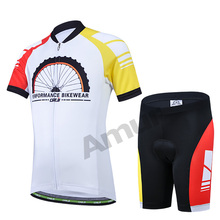 Kids Cycling Clothing Set Bicycle Short Sleeve Jersey Shorts Paded Breathable Ropa Ciclismo Suits Children Bike Abbigliamento(China)