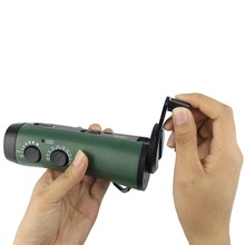FM AM Radio Hand Crank Radio Emergency Flashlight Portable with FM/AM Portable Siren Radio &Cell Phone Charger Y4180G