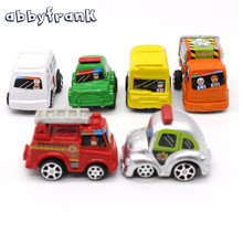 6pcs in 1 bag  Miniature Car Toy Mini Hot Wheels Toy Car Model Pull Back Bus Truck Toys For Child Kid Boy Gifts Hot Wheels Track