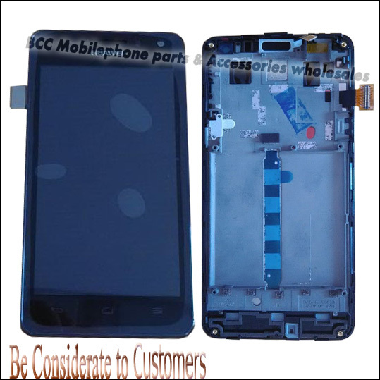 DHL Free shipping LCD+Touch Screen Digitizer Assembly for Huawei honor 2 u9508 + front frame 100% Original New Black 20pcs/lot<br><br>Aliexpress