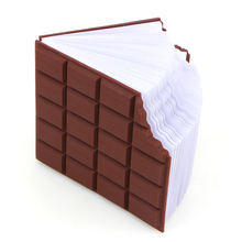 Best Promotion Convenient Creat Stationery Notebook Chocolate Memo Pad DIY Cover Notepad School Gift free shipping