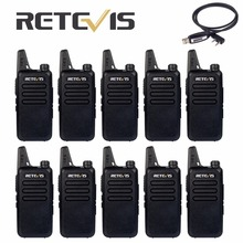 10pcs Cheap Team Walkie Talkie Retevis RT22 2W UHF 400-480MHz VOX Scan TOT 2 Way Hf Radio Portable Ham Radio For Hunting Hotel