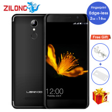 "Original LEAGOO M5 EDGE 5.0"" Edge Less IPS Smartphone 13MP+8MP MT6737 Quad Core 2GB RAM 16GB ROM Fingerprint 4G LTE Mobile Phone"