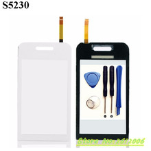 Brand New OEM Black Replacement Parts For Samsung S5230 Touch Screen Panel Sensor Lens Glass Smartphone Parts With +tools