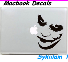 Cartoon Joker Face Sticker for Apple Macbook Skin Air 11 13 Pro 13 15 17 Retina Laptop Car Wall Vinyl Logo Decal