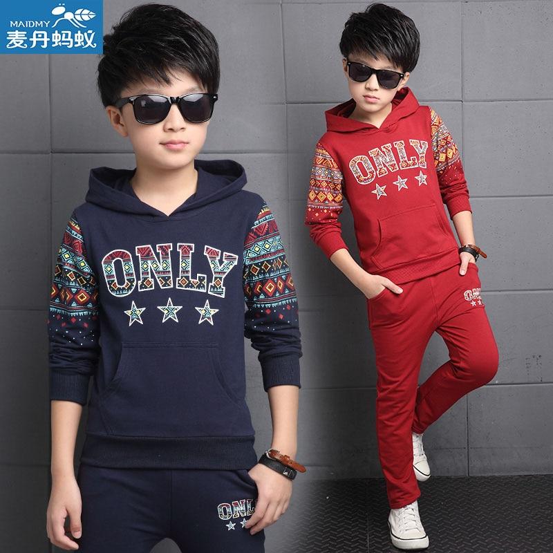 Boy Fall Sports Suit Children Autumn Clothes Coat and Pant Child Two-piece Set Suit 2pcs Students School Sports Clothes V-0193<br><br>Aliexpress