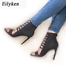 Eilyken New Summer Sandals Party Club wear Shoes Women Ankle Strap Lace-Up High Heel Stiletto Sexy Pumps Sandals size 35-40(China)