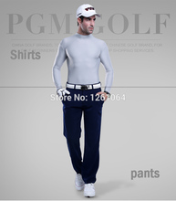 Free Shipping PGM Men golf cloth UV protection sun shirt ice  tights t shirt spring summer T-shirt polo underwear shirts