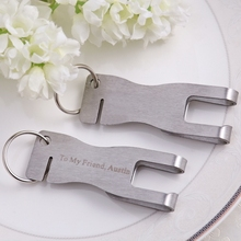 50Pcs Personalized Wedding Gift,Bottle Opener/ Money Clip/Cable Winder/Keychain/Bookmark Wedding Favor,Customized Name&Date