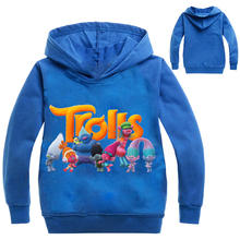 2017 Boys Outwear Trolls clothes Hoodies Cartoon Troll Costumes Clothes T shirts Children's Sweatshirts For Boys Kids Tops(China)