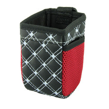 1Pc Car Storage Bag Auto Supplies Pouch Buggy Outlet Grocery Storage Pockets Car Air with Net Bag Debris Red Glove Section