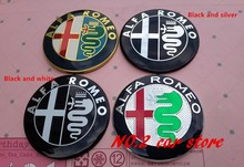 2pcs Free shipping 2016 new style Specials sale 7.4cm ALFA ROMEO Car Logo emblem Badge sticker for Mito 147 156 159 166