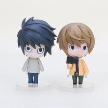 "4"" Nendoroid Death Note Yagami Light Killer Nendoroid L Lawliet Anime PVC Action Figure Colletion Model Toy Kid Gift #17 #12"