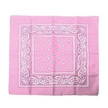 Bandanas scarf Hip Hop Rock headband hair scarf for dance Sport - pink(China)