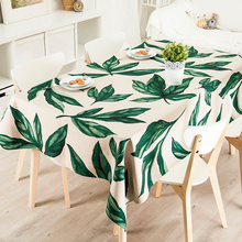 Rural Tablecloth TV Tablecloth Refrigerator Wedding Cover Home Decorative American style Plant leaves 6394 Linen Table decor(China)