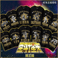 Collection! 12 zodiacs Anime Gold Saint Pluto EP Gold Cloth 3D printed Cosplay t-shirt Cotton t shirt Summer Top Tee in stock(China)