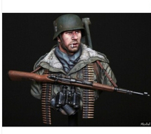 Scale Models 1/10 WW2 German Third Armored Division soldier WWII Resin Bust Model Free Shipping