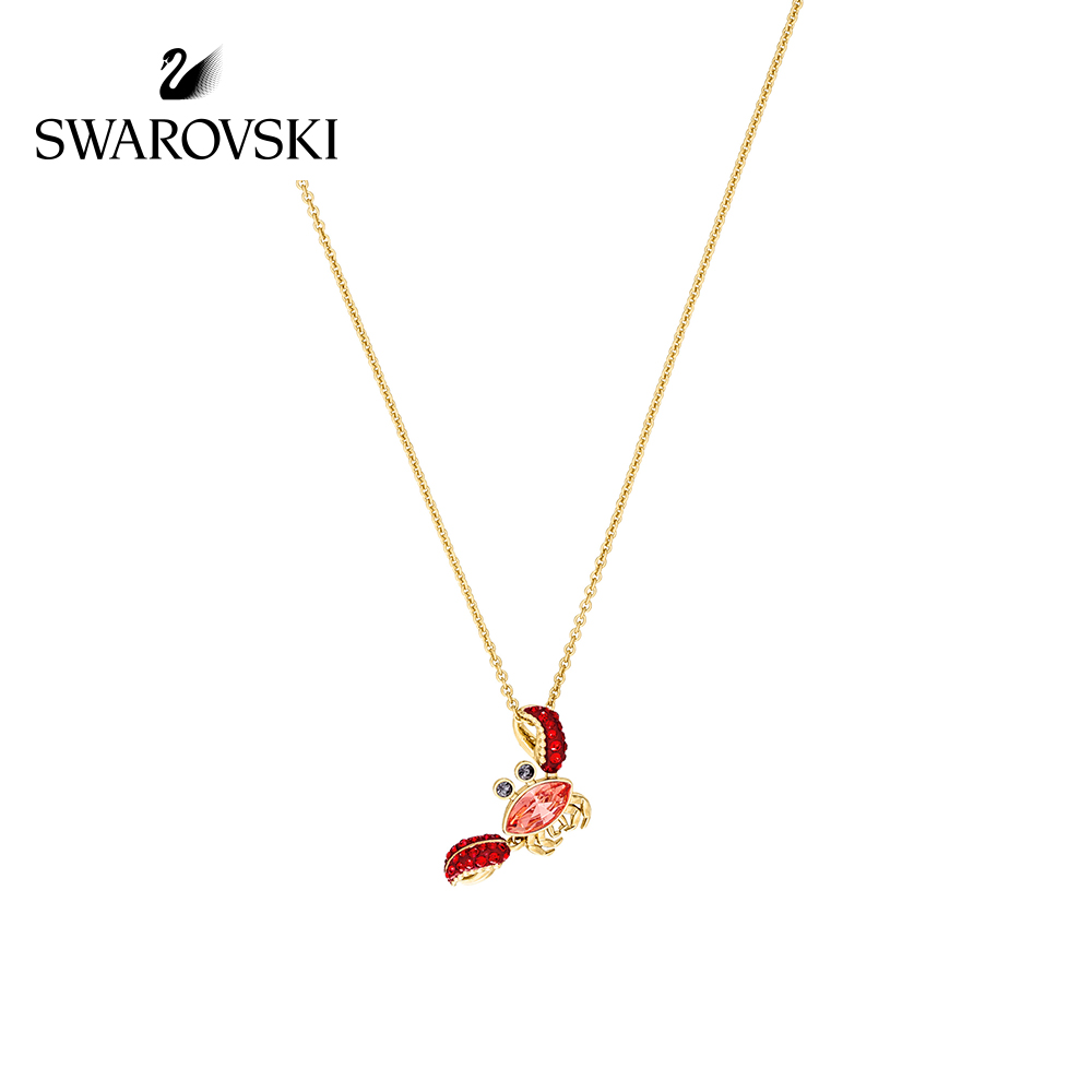 Original Genuine  Swarovski Ocean Cute Crab Female gold Necklace Women Pendant Necklaces Crystal Necklace Jewelry 5465940