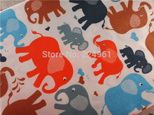 Free Shipping 50cm*150cm Elephant 100% Cotton Fabric for Sewing Patchwork Bedding Fabric DIY Baby Cloth Textiles 14121610(China)