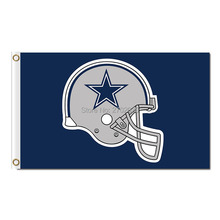 Helmet Dallas Cowboys Flag Football Helmet Banner World Series 2016 Dallas Cowboys Flag 3ft X 5ft Jersey Premium Team Banner(China)