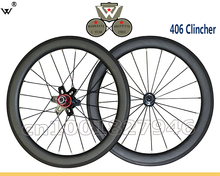 W Hot Sale;406 Full Carbon Wheels;Depth 40mm;Clincher;Width 25mm;20 inch Wheel of bicycle;Customized Decal;DIY free shipping