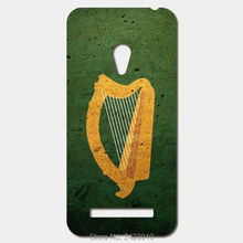 For ASUS Zenfone 5 6 4 A450CG 3 Max ZC520TL 2 Laser ze551ml ze500cl Patterned Cover Coat of arms harp ireland Flag phone cases(China)