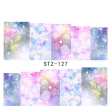 1sheets Beauty Dream Full Cover Stickers Nail Art Tips Water Transfer Decorations Nail Decals Manicure Accessory STZ127