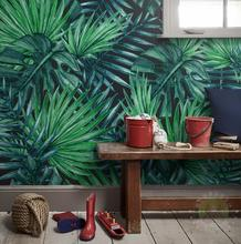 Custom Wall Mural Wallpaper European Style Nordic simplicity Rain Forest Plant Banana Leaf Pastoral Wall Painting Wallpaper 3D