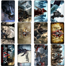 20 pcs/lot Cool Game Assassin's Creed 3 Anime Card Stickers Toys DIY Souvenir Bank Bus ID Card Funny Sticker Kids Party Gifts