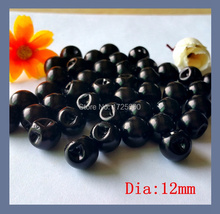 150pcs 12mm side hole Dress Buttons  Round Shirt Imitation Resin Pearl Button For Craft Scrapbooking Products Sewing Accessories