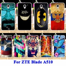Soft TPU Cell Phone Cases Cover For ZTE Blade A510 A 510 Shell Hood Skin Panda Tiger Captain American Housing Bags Silicon Capa