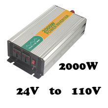 2000W 24v to 110v single output homemade power inverter 2000w inverter 24v industrial power inverter with usb port 5vdc(China)