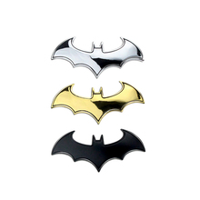 3D Metal Cool Bat Car Stylings Car Sticker Metal Bat Badge Emblem Tail Car Motorcycle Accessories For Benz BMW VW Toyota Ford