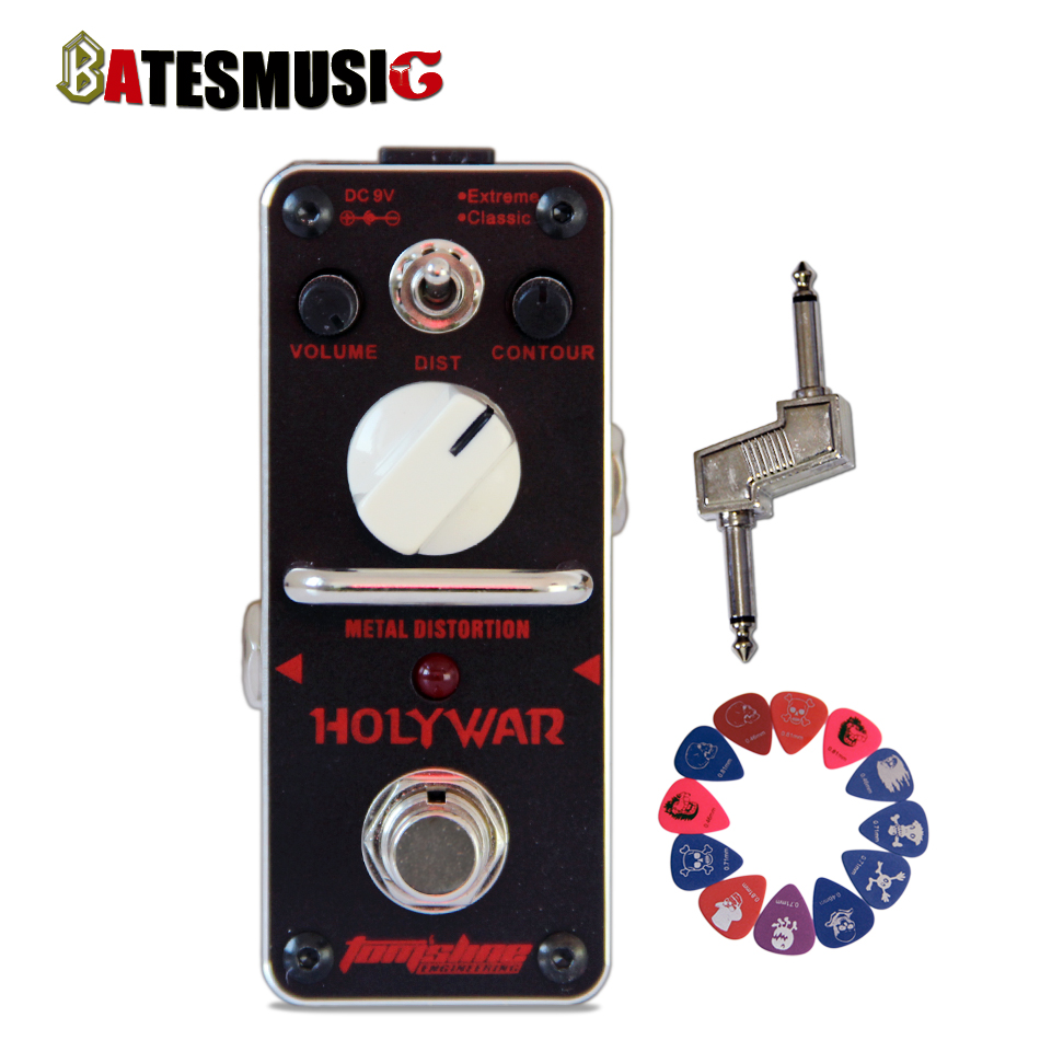Promotion product group! AROMA HOLY WAR  Metal distortion Mini Analogue Effect pedal + effect Pedal Connector+12 pics picks<br><br>Aliexpress