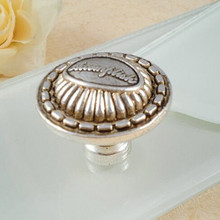 Drawer knob kitchen cabinet pull knob antique silver dresser Tv table bedside table rustico retro furniture door handles knobs
