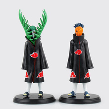 anime 16cm Free Shipping Anime Naruto Zetsu VS Uchiha Obito PVC Action Figures Collectible Model Toys set of 2 #LT011 T5340