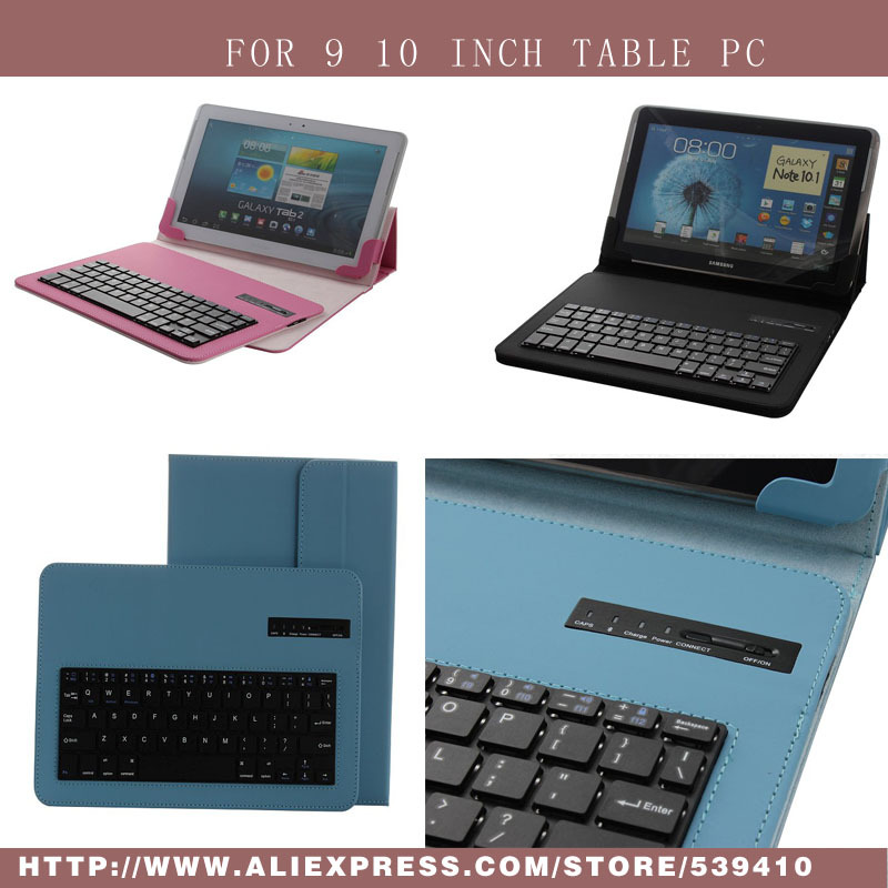 Universal Removable Bluetooth Keyboard PU Case Cover For huawei MediaPad 10 FHD link lenovo S6000 For Sony Tablet Z 10.1 case<br>