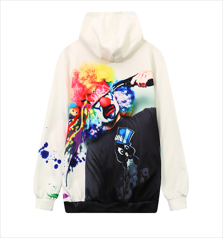 Women/Men Winter 3D Print Clown Graphic Hoodies Pocket Long Slevee Pullovers Female Casual Sweatshirt Hip Hop Strewear Tracksuit