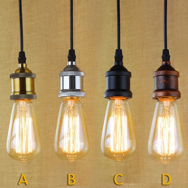 E27 40W Vintage Retro Filament Pendant Light For Bar Cafe Living Room Decoration Eddison Bulb Kits<br><br>Aliexpress