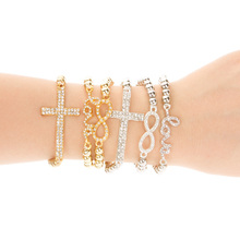 Tomtosh LOVE bracelet Ms. classical elastic cross bracelet * Factory price - quality assurance perfect