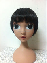 HOT!High quality Unbreakable Realistic Plastic lovely kid/child/girl mannequin Manikin dummy head   for hat display