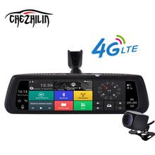 "chezhilin 10"" Full Touch IPS 4G Special Car DVR Camera Android Mirror Dual Lens Video Recorder Dash Cam GPS Bluetooth WIFI ADAS(China)"