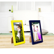 Europe Plastic Desktop Photo Frame Exquisite Home wall Decoration Plexiglass wedding Picture Frame baby Gift Photo Album(China)